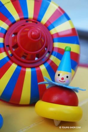 Clown Jouet Toupie Enfants Garçon Fille Jeux en Bois pour Anniversaire Toupie Shop