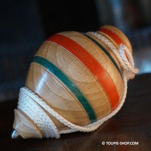 Toupie à Ficelle Ancienne avec lanceur Jeux en Bois Artisanal Toupie Shop Magasin de Jouet Bois Toupies