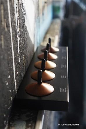Collection de toupie en bois - 5 toupies