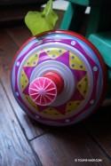 Toupie Rose - Grande Toupie en Métal Jeux Enfant