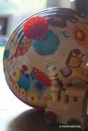Toupie Jouet Ancien - Grande Toupie en Métal Jeux Enfant