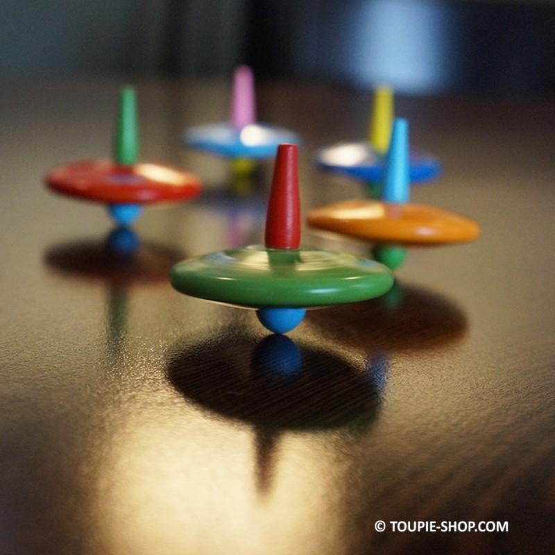 Ovni jouet bois pas cher toupie enfants gar on fille jeux anniversaire - Jouet enfants pas cher ...