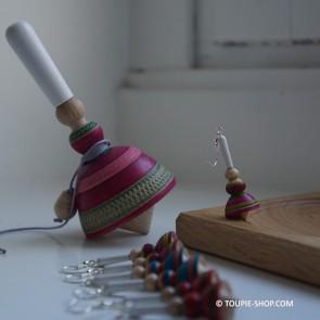 Boucles d'oreilles Bigouden Bijou en Bois Artisanal Toupie-Shop Magasin de Jouet Toupies