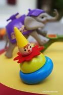 Collection Toupies du Cirque - 6 toupies jeux en bois et métal