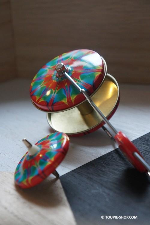 Hippie Métal Toupie Magnétique Jeux avec Lanceur Jouet Sciences Cadeau Original Toupie Shop Magasin Jouets Achat Toupies Metal