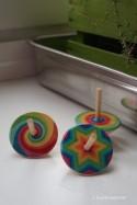 Toupie Multicolore Jouet Bois Enfant Jeux Anniversaire