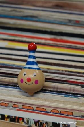 Petit Clown Toupie Bois Jouet Garçon Jeux Fille Magasin Jouets Bois Toupie Shop