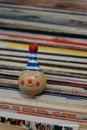 Clown (petit) Toupie Bois Jouet Garçon Jeux Fille