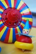 Clown Jouet Toupie Enfants Jeux en Bois
