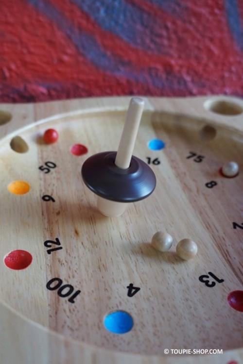 La Roulette Jeux avec Toupie et Billes Jeu Virolon Jouet Bois Ancien Toupie Shop Magasin Jouets Toupies Original Cadeau Noel