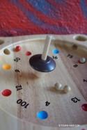 Jeux en Bois avec Plateau Toupie et Billes La Roulette
