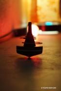 Hula Hoop Jeux Toupie avec anneau Jouet Bois Artisanal