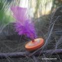 Toupie Plume Jouet en Bois Artisanal Jeux Enfants
