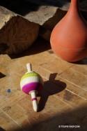 Toupie Salto Jeux en Bois Artisanal Toupies Adulte