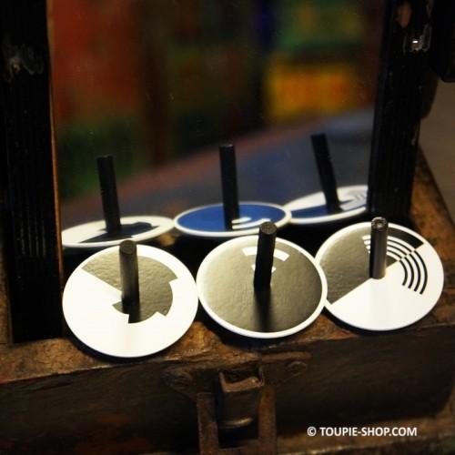 Jeux de Collection 5 Toupies en Bois Design Jouet Sciences Educatif Jeu Adulte Toupie Shop