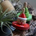 Toupie de Noël Cadeau Enfant Jeux en Bois