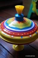 Jeu de Toupie Carrousel Manège Arc-en-ciel Jouet Ancien Musical