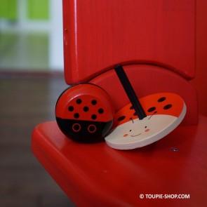 Coccinelle Jeux de Toupie Eveil Jouet en Bois Anniversaire Enfant Toupie Shop