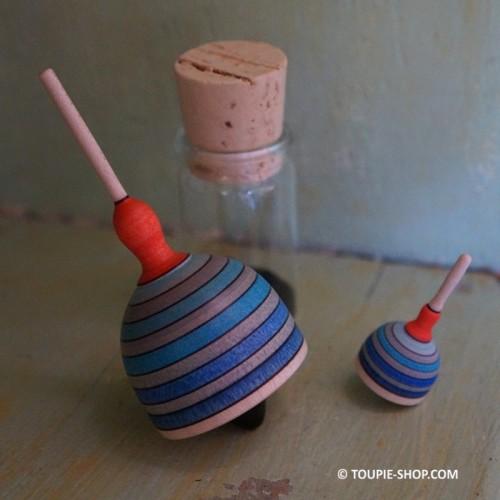Toupie Cloche Mini Jeux en Bois Adulte Miniature pour Collectionneur Toupie Shop