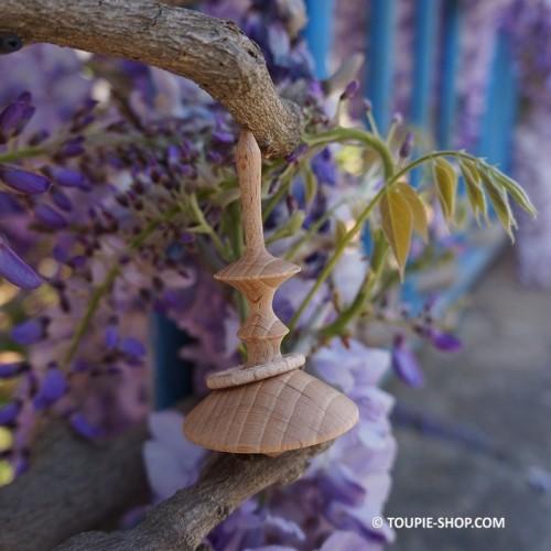 La Précieuse Jouet Toupie en Bois Artisanal avec Anneau Fabriqué en France Jeux Adulte Toupie Shop