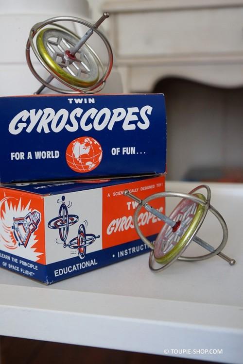 Duo Toupies Métal Achat Gyroscope Toupie Metal Ancien Annee 50 Jouet Sciences Gyroscopique Jeux Adulte Toupie Shop