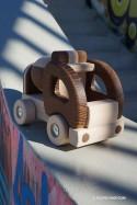 Jouet Camion Toupie en Bois Jeux de Voiture Ecolo