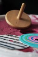 Jeux de Toupie à Colorier Jouet en Bois pas cher