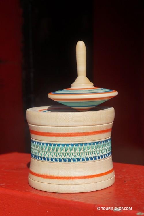 Toupie Boite à Souhait Jeux en Bois d'Erable Jouet Artisanal Fabriqué en France Toupie Shop Magasin Jouets Acheter Toupies