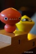 Les 3 Fantastiques Jeux de Toupie en Bois Cadeau Original