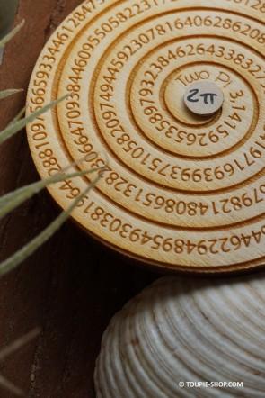 Two Pi Toupie Jouet en Bois Artisanal Jeux Educatifs avec Spirale et Nombre Pi Sciences Toupie Shop Magasin Jouets Toupies Bois