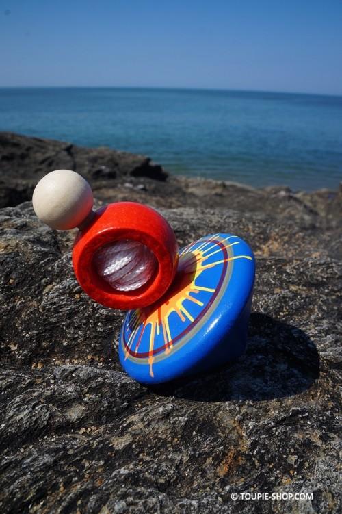 Splash Toupie Ficelle Jeux Bois Ancien Toupie Shop Magasin de Jouets Toupies Cadeau Original Fabriqué Europe