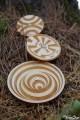 Série 1 Crop Circle Toupie Cercle de Culture Agroglyphe les 3 Jeux Bois Artisanal Collection Toupie Shop Jouet Fabriqué France