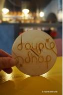 Toupie Ambigramme Jeux Magie Sous-Bock en Bois