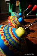 Carrousel Petit Modèle Cirque Toupie en Métal Jeux Enfant