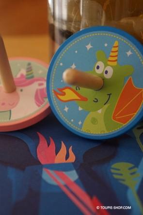 Toupie Licorne Dragon Jouet en Bois Jeux Anniversaire Enfant Magie Jeu Cadeau Original Toupie Shop Magasin Jouets de Noel