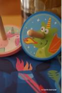 Jouet en Bois Enfant Toupie Unicorn Dragon et Licorne