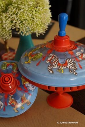 Manège Carrousel Grande Toupie en Métal Jeux Enfant Jouet Ancien Cadeau 1 an Anniversaire Toupie Shop Magasin Jouets Toupies