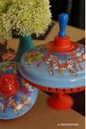 Carrousel Grande Toupie en Métal Jeux Enfant Manège Jouet Ancien