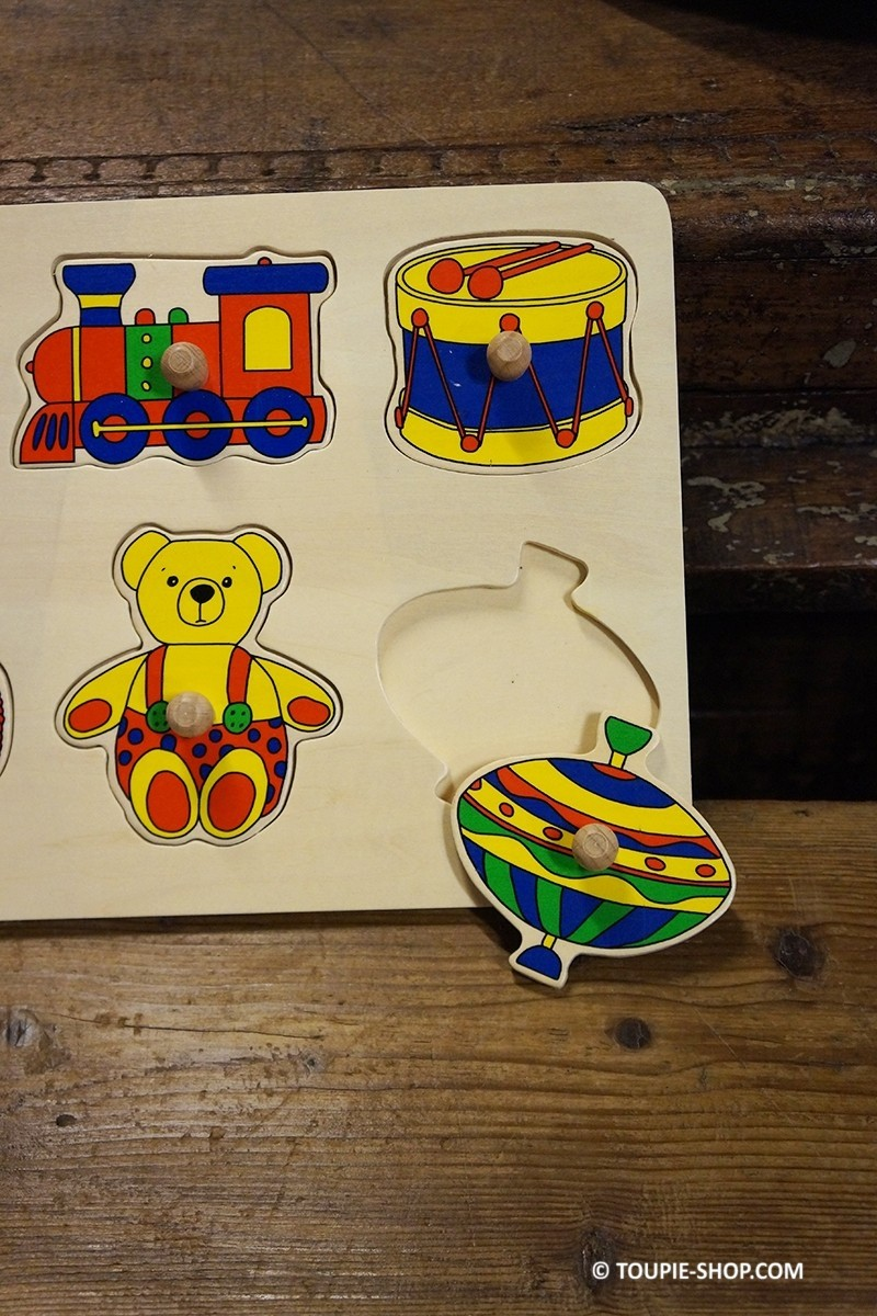 puzzle mon premier jeu avec toupie jeux enfants jouets. Black Bedroom Furniture Sets. Home Design Ideas
