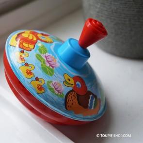 Rétro Jouet Ancien Toupie en Métal Jeu Illustré Canards Cadeau Noel Enfant Toupie Shop Magasin Jouets Jeux Toupies