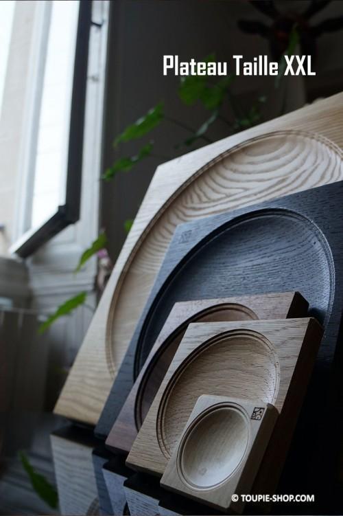 Taille XXL Plateau pour Toupies Accessoire Jeu Fabriqué en Europe en Bois Artisanal Toupie Shop Magasin Jouets Jeux