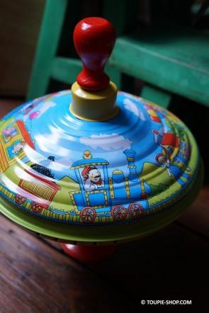 Toupie Carrousel Train Jeux en Métal Cadeau Enfant Toupie Shop
