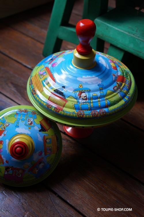 Toupie Carrousel Train Jeux en Métal Cadeau Enfant Toupie-Shop.com