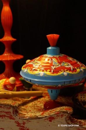 Carrousel Grande Toupie en Métal Jouet Ancien Jeux Avec Manège Cheval Toupie Shop Magasin Jouets Cadeau Noel Enfant