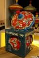 Grande Ancienne Toupie Métal Jouet Avec Animaux Chevaux Manège Souvenir Enfance Jeu Toupie Shop Magasin Jouets Cadeau Noel Jeux