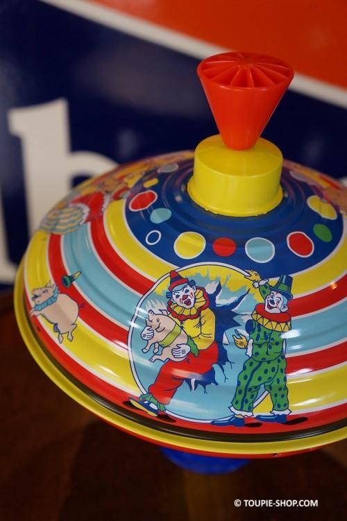 Jeux de Toupie en Métal illustré Cirque Jouet Autrefois Antan Ancien Toupie Shop Boutique Toupies Magasin Jouets Cadeaux Enfants