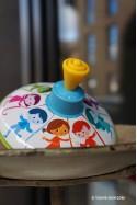 Ronde d'Enfants Jeux de Toupie en Métal Jouet Ancien