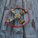 Hélices en Métal pour Jeux de Toupie Volante Jouet Ancien