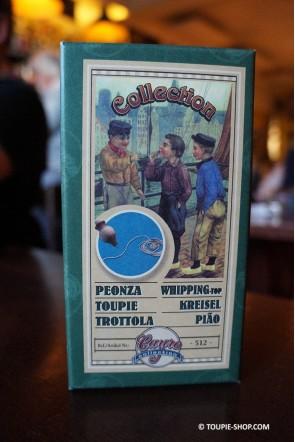 Peonza Jouet en Bois Ancien Toupie de Collection Boite Traditionnelle Toupie Shop Magasin Jeux Toupies