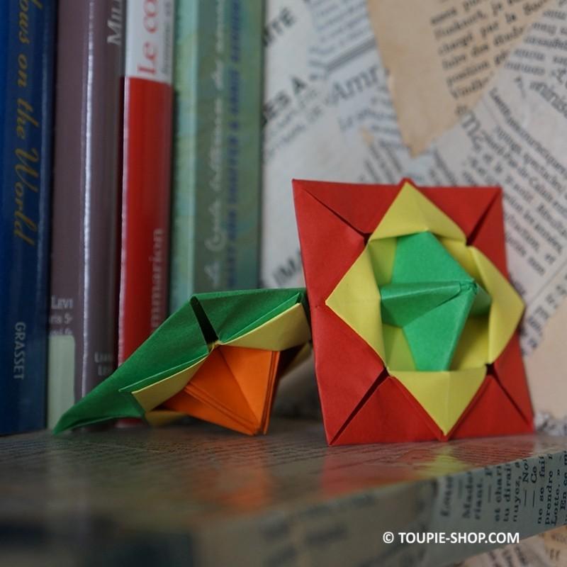 Toupie Origami Jouet Papier Jeux Enfants Atelier Fabrication Toupies